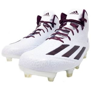Adidas Adizero 5-Star 5.0 Mid White and Maroon
